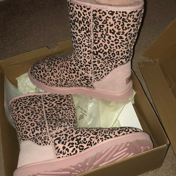 ugg shoes | womens australia pink leopard print boots | poshmark